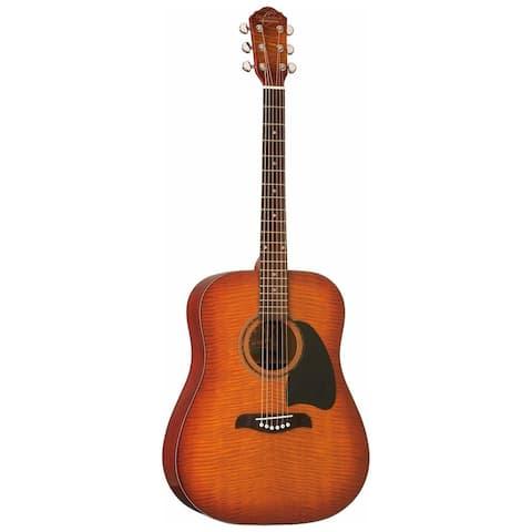 Oscar Schmidt Guitar Dreadnought Acoustic Flame Yellow Sunburst OG2FYS