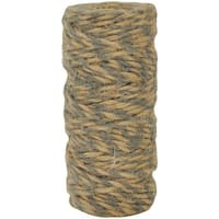 Lucky Dip Jute Cord-Double-Colour Gray, 2.5Mmx18m