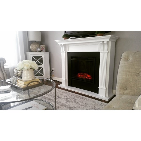 Ashley White Electric Fireplace By Real Flame Free Shipping Today 6518695