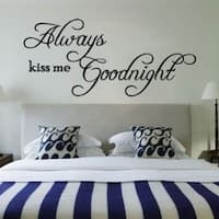Always Kiss Me Goodnight Quote Removable DIY Wall Sticker Decal Home Art Decor Hot