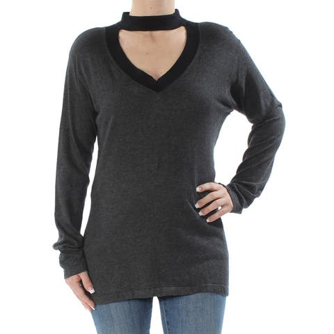 VINCE CAMUTO Womens Gray Long Sleeve V Neck Sweater Size: S