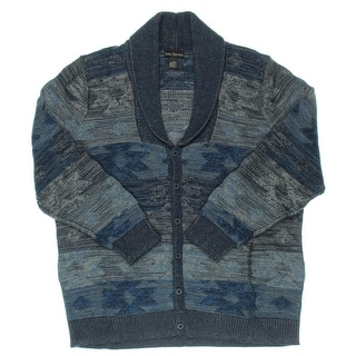 Alex Stevens Mens Heathered Button Front Cardigan Sweater