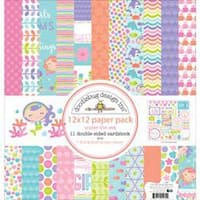 "Under The Sea - Doodlebug Double-Sided Paper Pack 12""X12"""