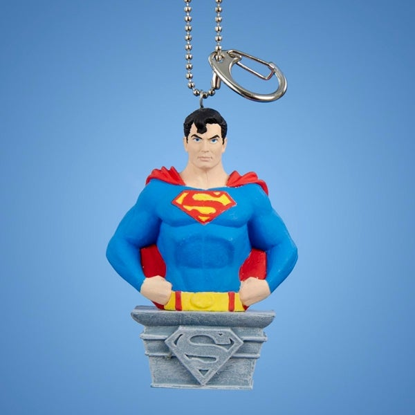 "3.25"" Superman Clip-On Keychain Christmas Ornament - BLue"