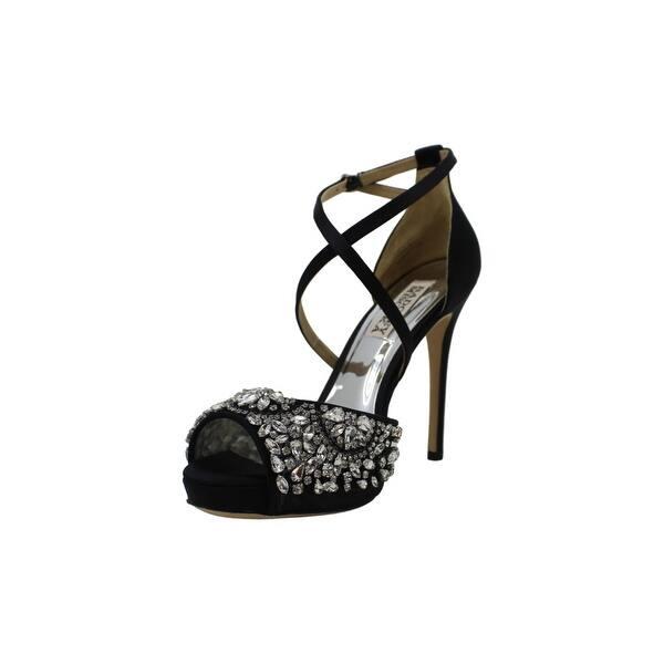 Badgley Mischka Womens Lyzbeth Open Toe Bridal Ankle Strap Sandals