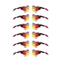 4.75 in. Graceful Elegance Red And Yellow Bird Christmas Ornaments