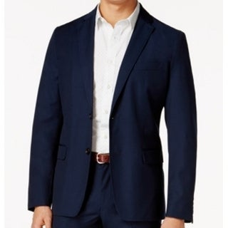 American Rag NEW Navy Blue Mens Large L Notched-Lapel Two Button Blazer