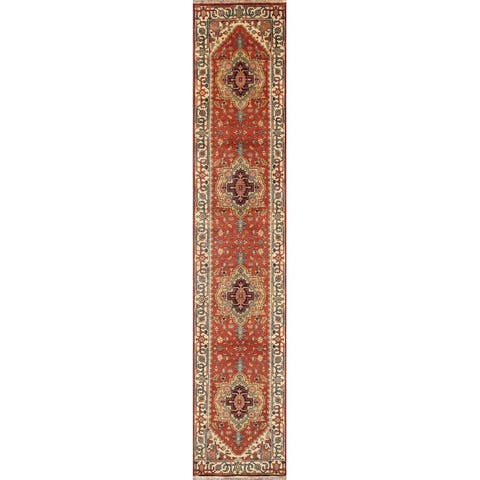 Pasargad Home Serapi Collection Rust/Ivory Wool Area Rug