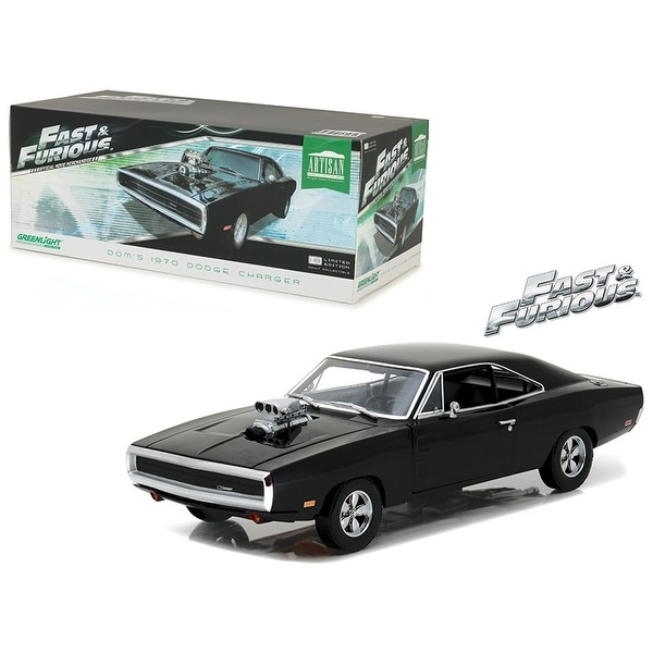 Dom\'s 1970 Dodge Charger The Fast and the Furious (2001) Movie Artisan Collection 1/18 Diecast Model Car by Greenlight