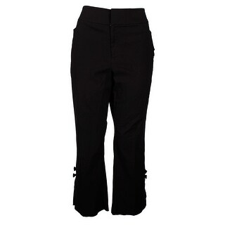 Inc International Concepts Deep Black Bow Cropped Pants 16
