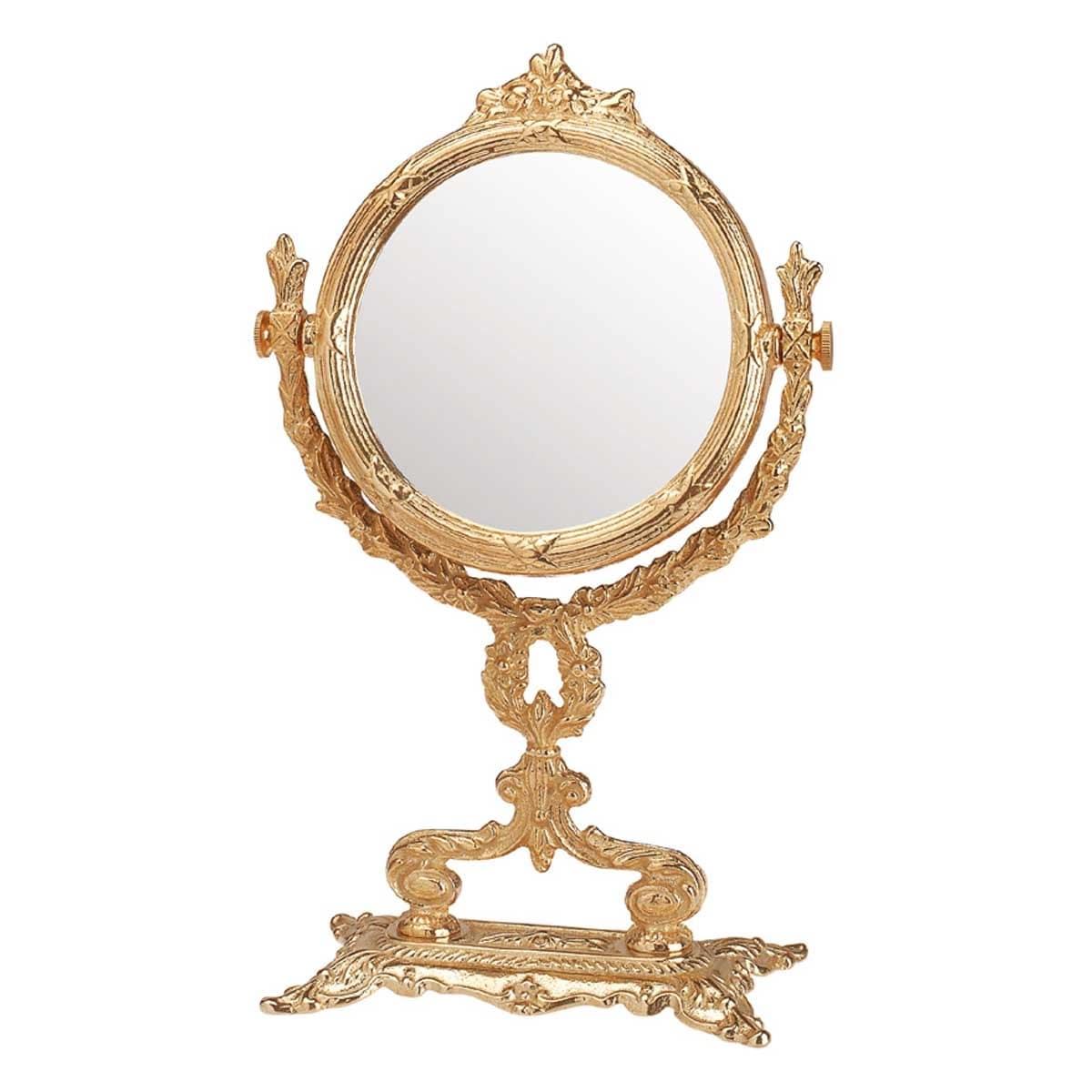 Victorian Antique Vanity Mirror Cast Brass 12 1 4 H Renovator S Supply Overstock 13743270