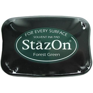 StazOn Solvent Ink Pad Large Forest Green