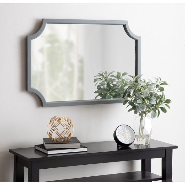 Kate and Laurel Hogan Scalloped Wood Framed Mirror. Opens flyout.