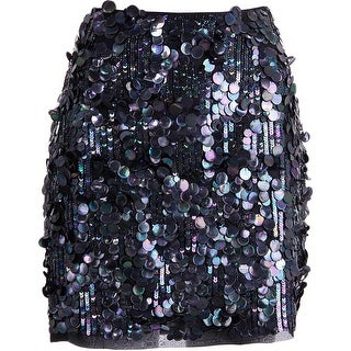 Elie Tahari Womens Silk Pailettes Mini Skirt - 8