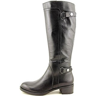 Franco Sarto Women's Crash Leather Knee High Riding Boot