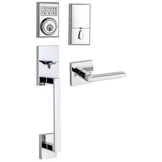 Kwikset 815SCEHFL-909CNT  909 SmartCode Electronic Handleset with San Clemente Handle and Halifax Interior Lever