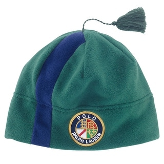 Polo Ralph Lauren Striped Fleece Tassel Cap Holiday Green Large / X-Large