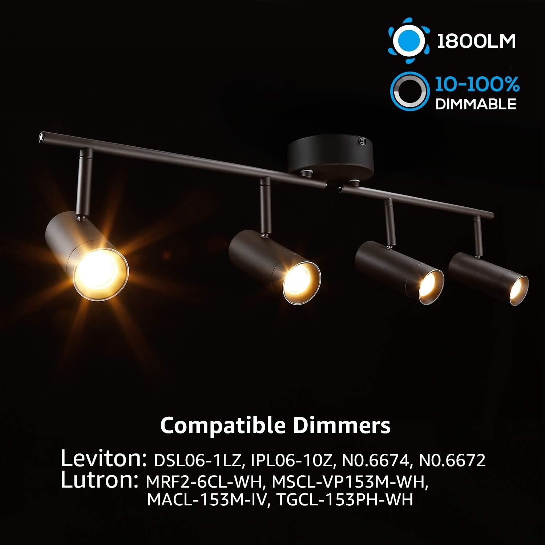 Led Dimmable Track Light Kit
