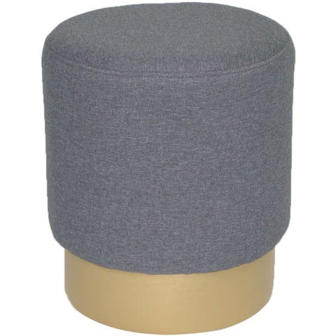 Critter Sitters Gray Vanity Stool with Gold Base
