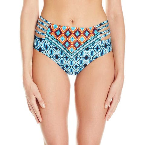 1abd6e6f753 Kenneth Cole New York Womens Tribe Vibes High Waist Bikini Bottom Small S  Multi