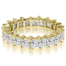 6.50 cttw. 14K Yellow Gold Princess Shared-Prong Diamond Eternity Ring