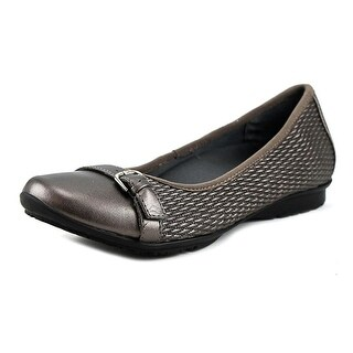 FootSmart Laura Women W Round Toe Synthetic Bronze Flats