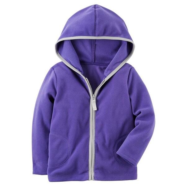 8491bd336 Shop Carter s Baby Girls  Purple Zip Up Fleece Hoodie