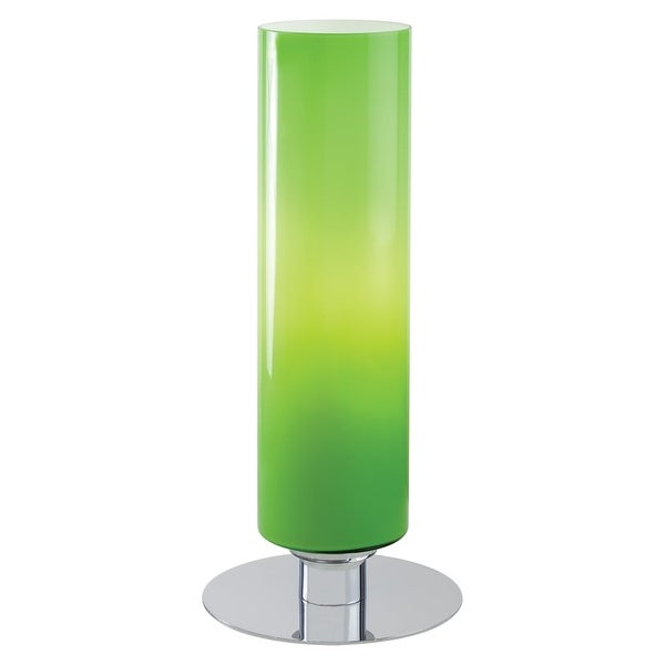Kovacs P663-077 1 Light Accent Table Lamp with Green Cased Shade from the Decorative Portables Collection - CHROME - n/a