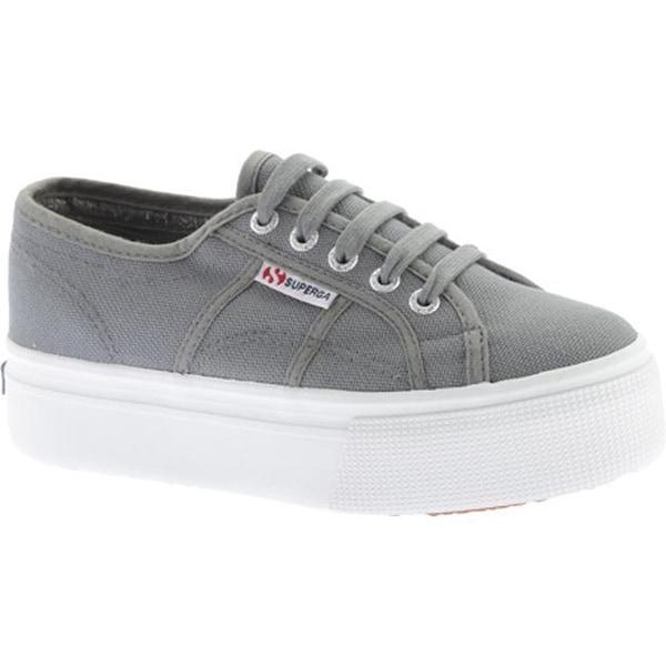 5f92195fb1f9 Shop Superga Women s 2790 ACTOW Flatform Sneaker Grey Sage - On Sale ...