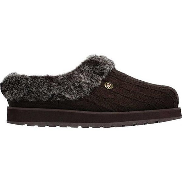 Skechers Women's Skechers BOBS Keepsakes Ice Angel Clog Slipper Chocolate Slippers from shoes | Shop