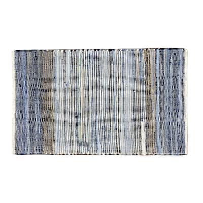 Lucky Brand Max Border Stripe Jute/Denim - Natural/White/Denim - Accent Rug