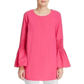 MICHAEL Michael Kors Womens Casual Top Solid Cotton