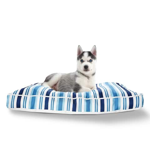"""Coastal Club Striped Pillow Dog Bed with Removable Cover - 24"""" x 36"""" x 3"""""""