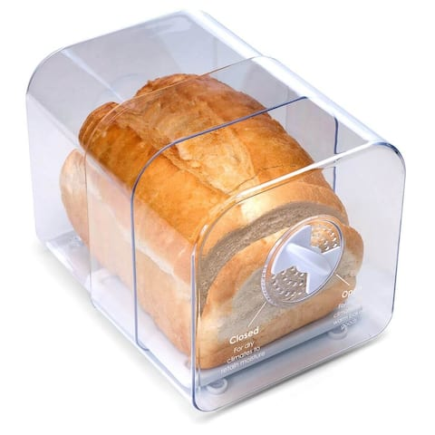 Prep Solutions by Progressive GBK-8 Expandable Bread Keeper, Adjustable Air Vented Bread Storage Container