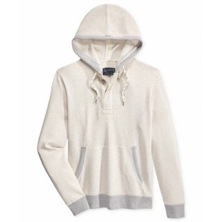 American Rag CIE NEW Beige Gray Mens Size Large L Hooded Sweater
