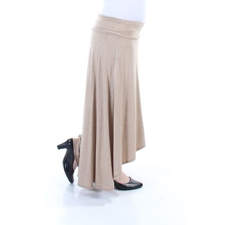 STUDIO M $68 Womens New 3354 Beige Full-Length Hi-Lo Casual Skirt S B+B