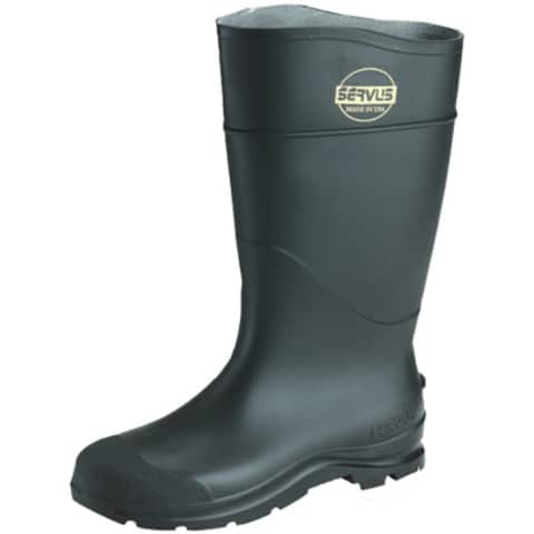 Servus 18821-13 Non-Insulated CT Safety Steel-Toe Mens Knee Boot, Black, Size 13