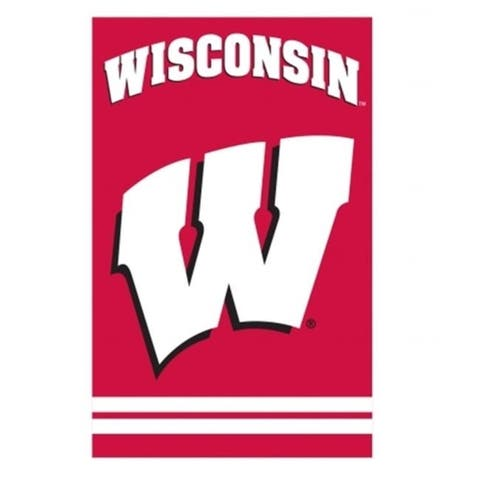 Party Animal 208697 Wisconsin Badgers Banner Flag