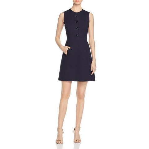 Elie Tahari Womens Louisa Party Dress Cut-Out Embellished - Stargazer
