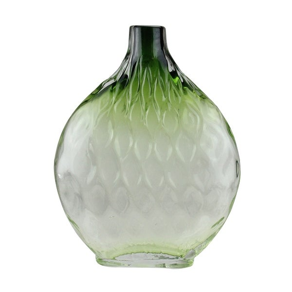 Shop 115 Disc Shaped Transparent Forest Green Ombre Hand Blown