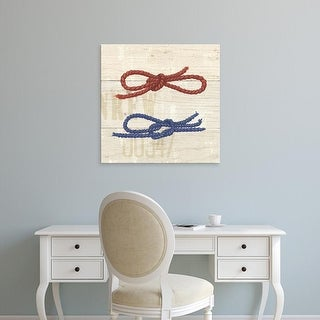 Easy Art Prints James Wiens's 'Nautique VI' Premium Canvas Art