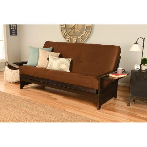 Copper Grove Dixie Espresso Full-size Futon Frame with Bonded Leather Innerspring Mattress