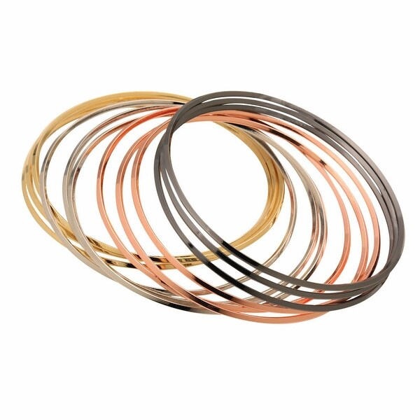 Women's Metallic Bangles By The Dozen - Set of 12
