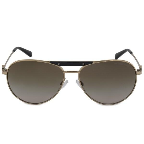 00c41c961c Shop Michael Kors Zanzibar Aviator Sunglasses MK5001 100413 58 - On ...