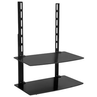 Mount-It! TV Wall Mount Shelf For Cable Box, DVD Player, AV Components and Accessories, Two Shelves
