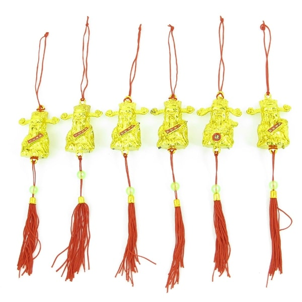 Unique Bargains The God of Wealth Pendant Spring Festival Xmas Tree Hanging Strap 6 Pcs