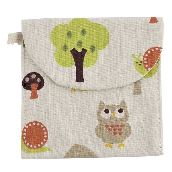 Shop Linen Square Shape Tree Owl Snail Pattern Sanitary