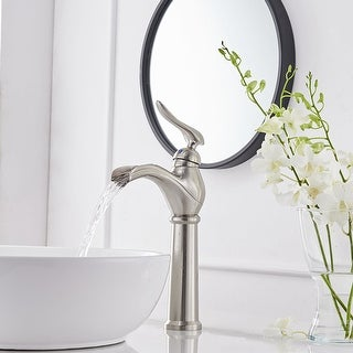 Link to Brushed Nickel Vessel Sink Faucet Bathroom Faucet Drain with Assembly Similar Items in Faucets