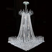 """Worldwide Lighting W83053C29 Empire 16-Light 1 Tier 29"""" Chrome Chandelier with Clear Crystals - n/a"""