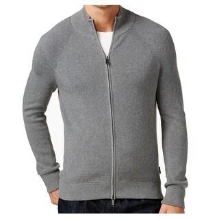 Michael Kors NEW Gray Men's Size 2XL Full Zip Mock-Neck Sweater